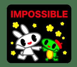 Editor Rabbit and Writer Turtle English sticker #816116