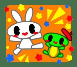 Editor Rabbit and Writer Turtle English sticker #816117