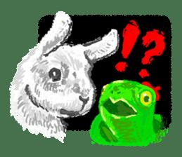 Editor Rabbit and Writer Turtle English sticker #816118