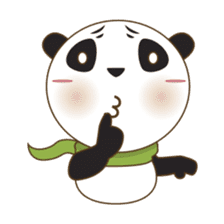 BaoBei the cute and energetic panda sticker #816261