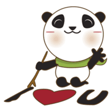 BaoBei the cute and energetic panda sticker #816264