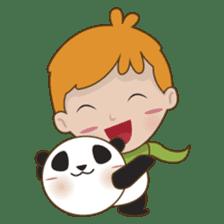 BaoBei the cute and energetic panda sticker #816274