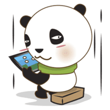 BaoBei the cute and energetic panda sticker #816276