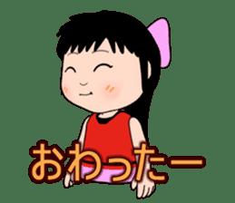 The girl of ponytail sticker #817271