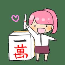 Mahjong girls sticker #818519