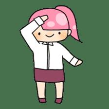 Mahjong girls sticker #818522