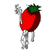 Mr.Strawberry and his friends. sticker #819599