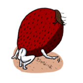 Mr.Strawberry and his friends. sticker #819603