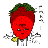 Mr.Strawberry and his friends. sticker #819604