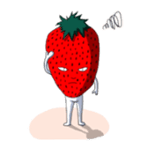 Mr.Strawberry and his friends. sticker #819607