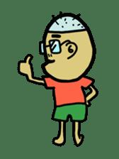 Japanese Otaku boy,his name is Oie sticker #819721