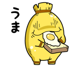 Japanese loves natto doll. sticker #822057