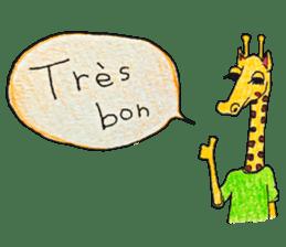 French giraffe sticker #823199
