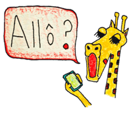 French giraffe sticker #823201