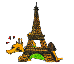 French giraffe sticker #823203
