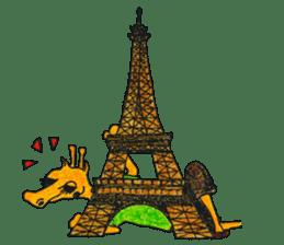 French giraffe sticker #823203