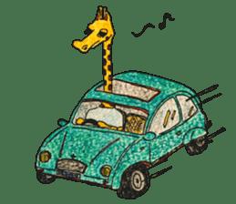French giraffe sticker #823205