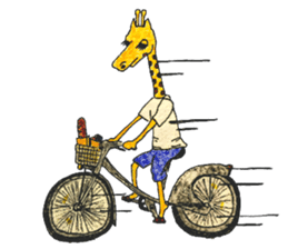 French giraffe sticker #823207