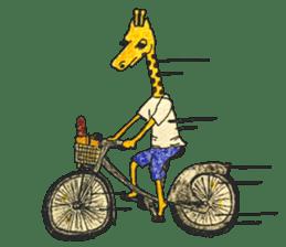 French giraffe sticker #823207