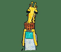 French giraffe sticker #823209