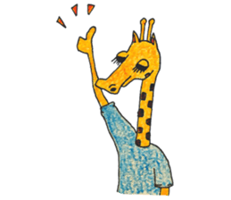 French giraffe sticker #823211