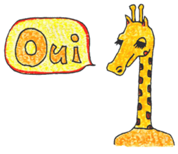 French giraffe sticker #823213