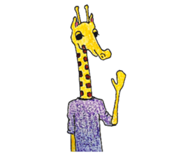 French giraffe sticker #823222