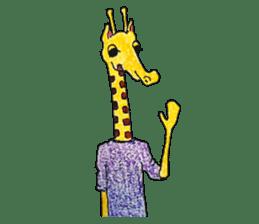 French giraffe sticker #823222