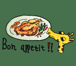 French giraffe sticker #823224