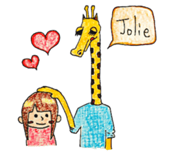 French giraffe sticker #823226