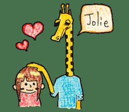 French giraffe sticker #823226