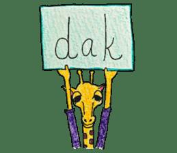 French giraffe sticker #823228
