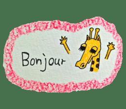 French giraffe sticker #823229