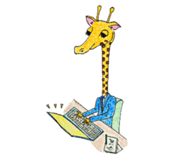 French giraffe sticker #823232
