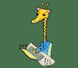 French giraffe sticker #823232