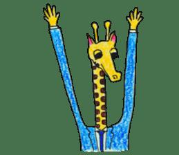 French giraffe sticker #823233