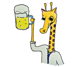 French giraffe sticker #823234