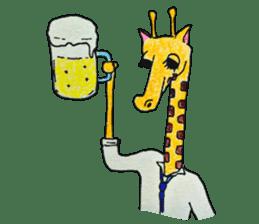 French giraffe sticker #823234