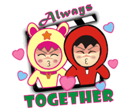 RED PACO BROTHERS 2 ( VIVI AND JERRY ) sticker #823498