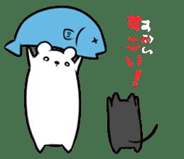 Black cat and Mr. Polar Bear's sticker #827458