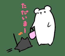 Black cat and Mr. Polar Bear's sticker #827462