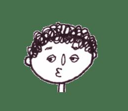 Monotone people sticker #828451