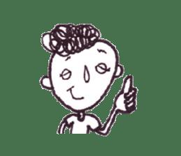 Monotone people sticker #828457