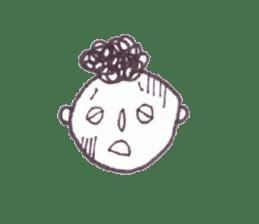 Monotone people sticker #828471