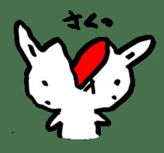 White rabbits of Kusuda sticker #829725