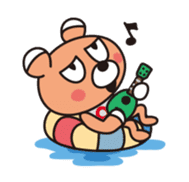 U900 (Japanese Ukulele Duo) Stamps 01 sticker #830223
