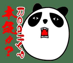 Panda-like creature English ver sticker #831120