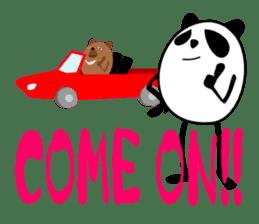 Panda-like creature English ver sticker #831123