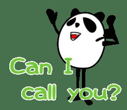Panda-like creature English ver sticker #831124