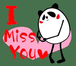 Panda-like creature English ver sticker #831126